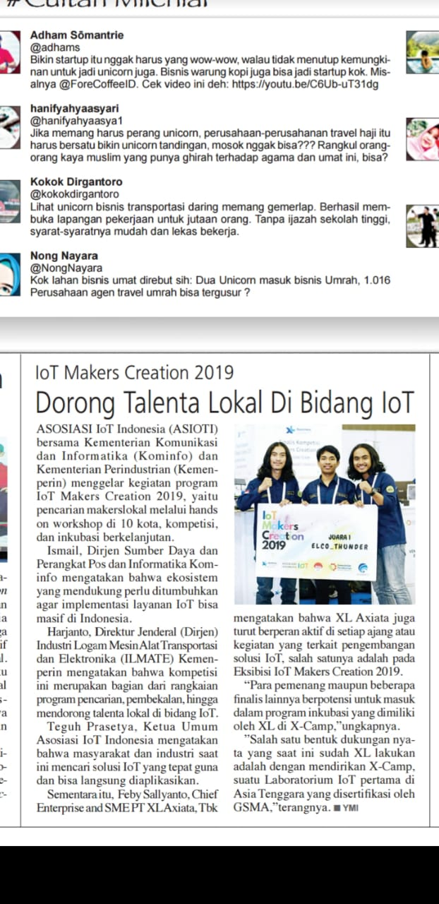 IoT Makers Creation 2019 – Dorong Talenta Lokal di Bidang IoT