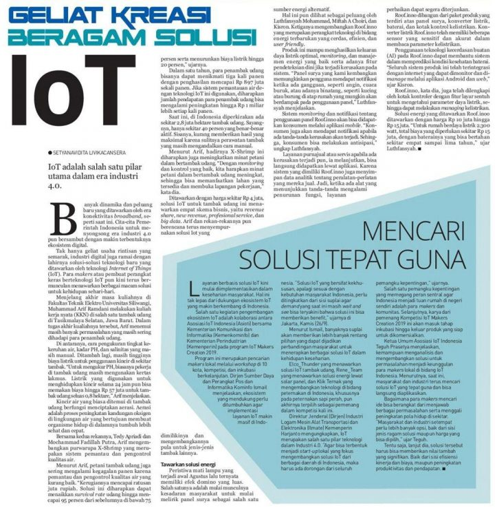 IoT adalah salah satu pilar utama dalam era industri 4.0