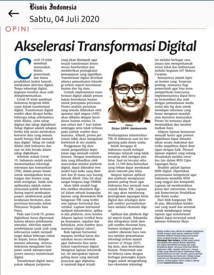 Akselerasi Transformasi Digital